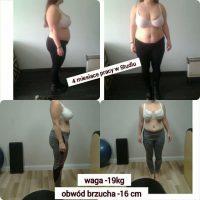 Klientka Beatka- redukcja wagi po porodzie (-19kg)