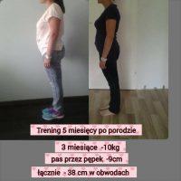 Klientka ADA – redukcja wagi po porodzie (-10kg)